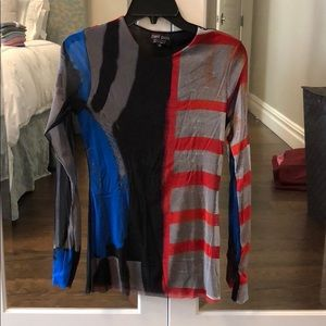 Tops - Patterned long sleeve shirt